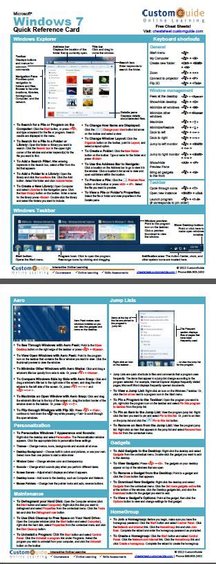 windows  quick reference card httpwww
