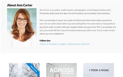 author page template genesis add images to book author pages for genesis author pro