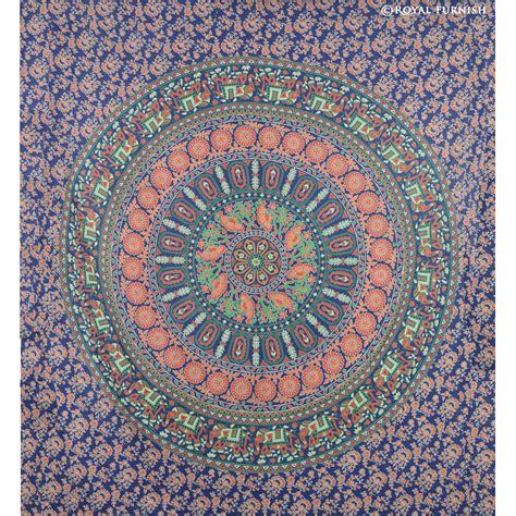queen psychedelic indian multicolor mandala medallion