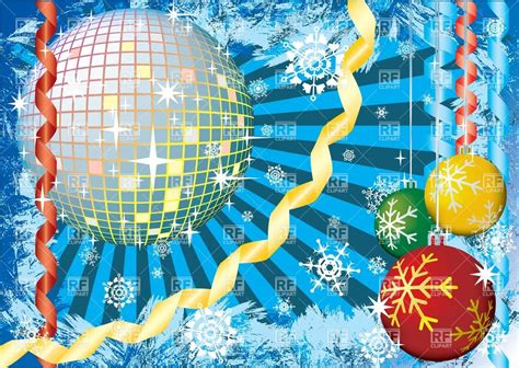 christmas party invitation with disco ball new year s