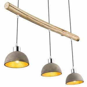 Suspension 3 Lampes : suspension 3 lampes jebel abat jour en b ton wifisafe ~ Melissatoandfro.com Idées de Décoration