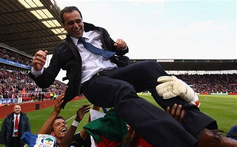 Wigan Athletic manager Roberto Martinez says his players ...