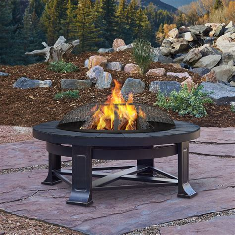 wood burning pit real edwards 33 75 quot outdoor patio deck wood burning