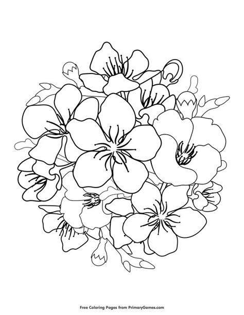 Cherry Blossoms Coloring Page • FREE Printable eBook (With