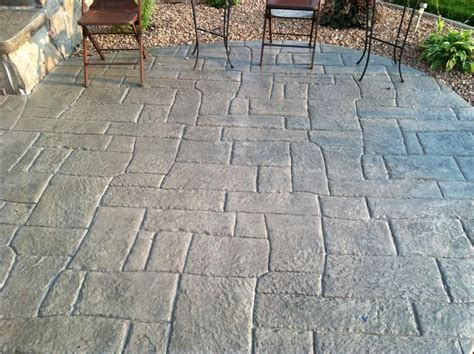 countryside concrete  colored stamped