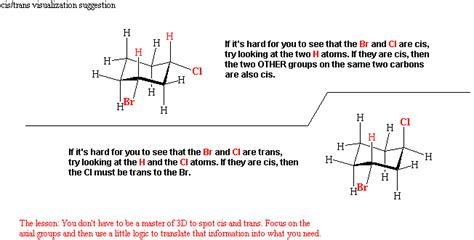 chair conformation of cyclohexane cis and trans chemistry 247a hanson