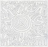 Mola Quilting Square Sun Designs Embroidery Quilt Run Single Molas Machine Patterns Coloring Emblibrary Library Templates Template Longarm Coloriage Embellissement sketch template