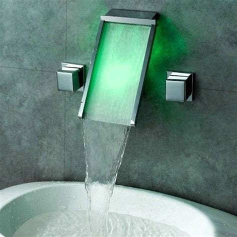 Wall Mounted Led Waterfall Faucet by Sell Waterfall Spout Bathroom Sink Handles Wall
