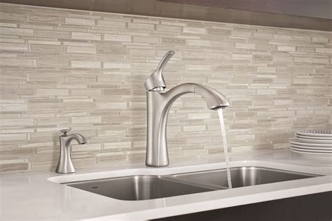 moen voss cabinet pulls embrace enduring style in the kitchen with the new voss