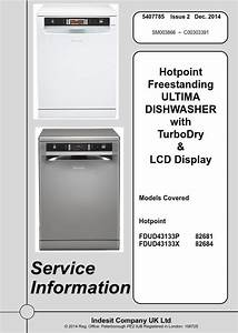 Hotpoint Fdud43133p Fdud43133x Dishwasher Service Manual