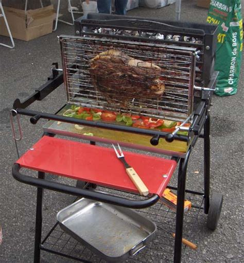 barbecue foyer vertical gaz