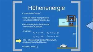 Lageenergie Berechnen : h henenergie auch lageenergie bzw potentielle energie youtube ~ Themetempest.com Abrechnung