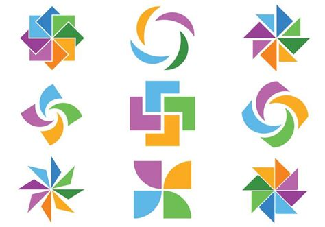 colorful icon pack colorful abstract icon vector pack free vector