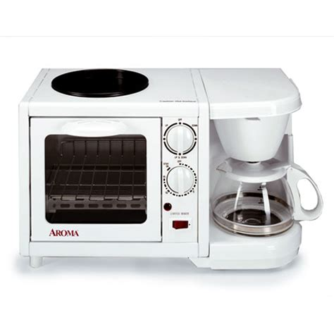 coffee maker toaster oven aroma 3 in 1 mini toaster oven griddle coffeemaker