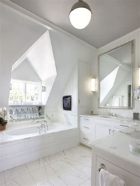 gorgeous bathroom  dormer window   oval shaped