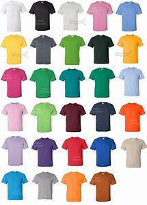 Gildan Tee Color Chart Gildan Dryblend 50 50 T Shirt 8000 S 5xl Cotton Polyester