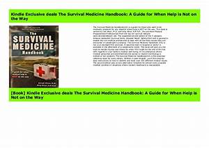 Original Books The Survival Medicine Handbook  A Guide For