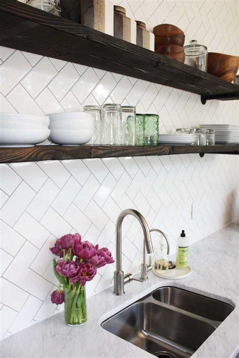 Herringbone Subway Tile Kitchen