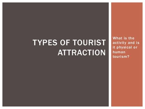 Types Of Tourist Attraction