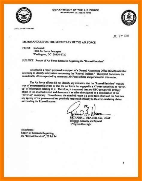 Air Memo For Record Template by Air Mfr Template Memorandum For Record 860547