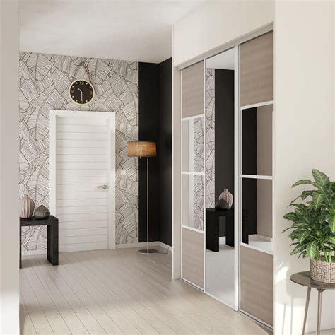 porte chambre leroy merlin porte de placard coulissante magnolia miroir spaceo l 67