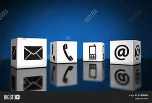 Web Contact Us Icons Cubes Stock Photo Stock Images