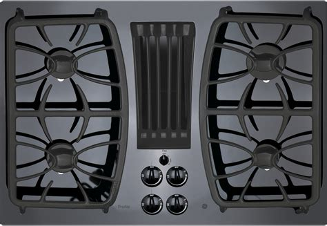 ge pgpdjbb   gas cooktop   sealed burners downdraft exhaust system glass