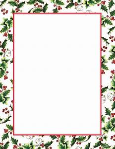 8 best images of free printable christmas borders holly free christmas letter border templates With christmas border templates