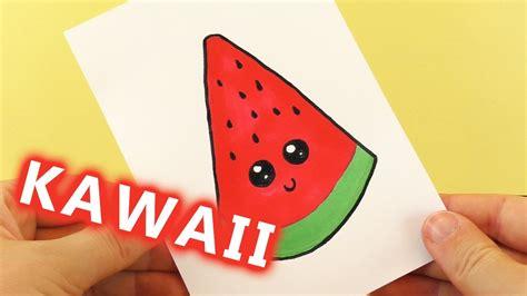 einfache bilder zum malen wassermelone diy kawaii zeichnen s 252 223 e watermelon selber machen malen f 252 r kinder