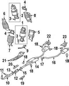 Acura Mdx Exhaust System Parts Components