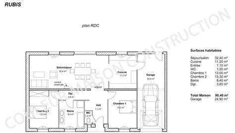 plan de maison plein pied gratuit 3 chambres plan maison plain pied 3 chambres gratuit top plan maison