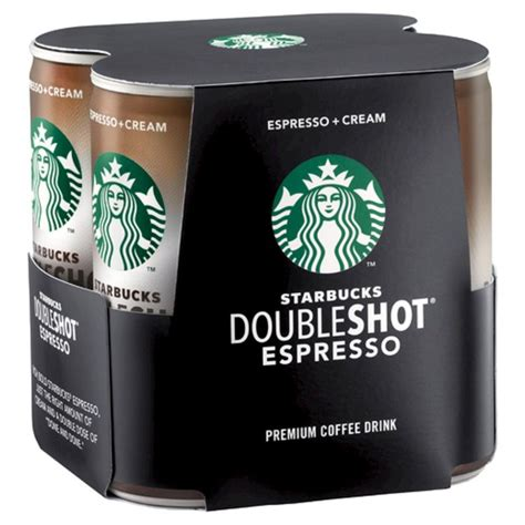 7 to 10 grams (¼ to ⅓ ounce) of ground coffee for a single shot or 12 to 18 grams (⅜ to ⅝ ounces) for a double shot. Starbucks Double Shot Espresso And Cream Coffee Drink ...