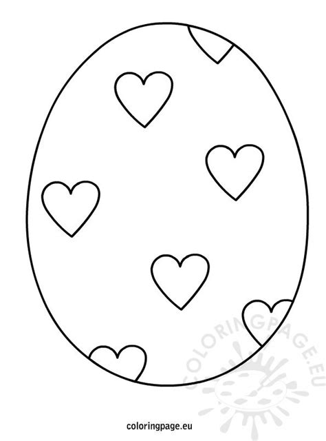 easter egg hearts coloring coloring page