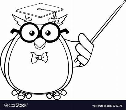 Cartoon Owl Clever Clipart Teacher Clipground
