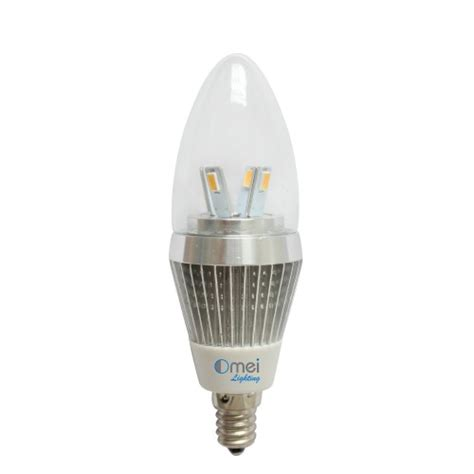 dimmable led candelabra bulb e12 5w 40watts warm white