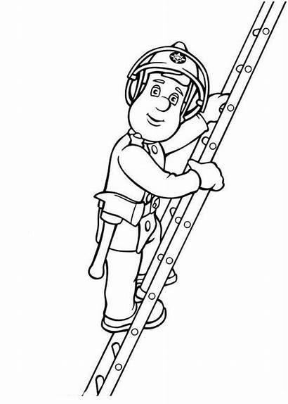 Sam Coloring Fireman Stairs Step Sheet
