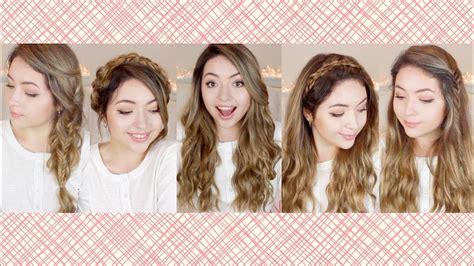 peinados  cabello largo faciles  bonitos ekaty youtube