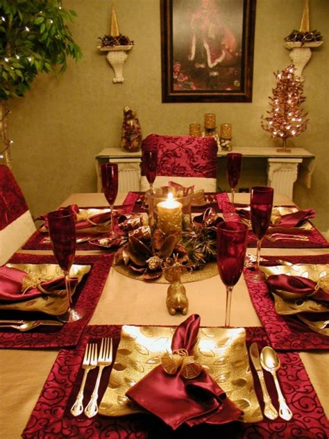 christmas table decorations settings hgtv