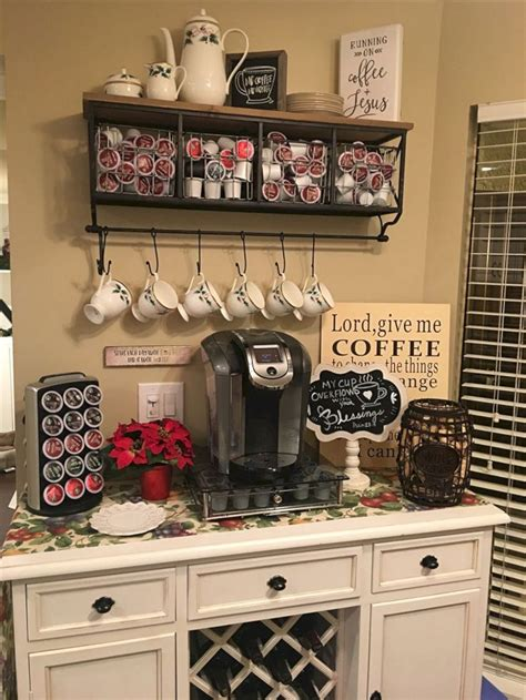 This bar cabinet has you covered when it comes to entertainment. 50 DIY Coffee Bar Ideas inside the Home for Coffee Enthusiast