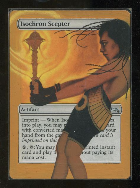 Isochron Scepter Deck Mtg by Magic The Gathering Mtg Mirrodin Isochron Scepter Altered