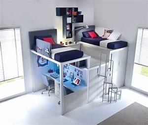 Lit Avec Bureau : lit enfant mezzanine avec bureau ~ Teatrodelosmanantiales.com Idées de Décoration