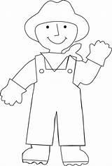 Farmer Coloring Preschool Farm Crafts Labor Activities Printable Craft International Kindergarten Preschoolcrafts sketch template
