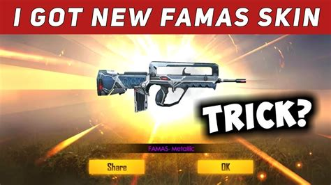 Free fire offers a wide variety of skins and other cosmetics to players. HOW GET PERMANENT FAMAS    FREE GUN CRATES    PATCH QUIZ ...