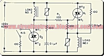 Throw Switch To Schematic Wiring Diagram by Simple Ac Static Single Pole Throw Switch Circuit