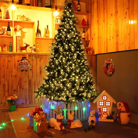 how many feet lights for 8 ft christmas tree 8 ft pre lit artificial tree w 450 led lights