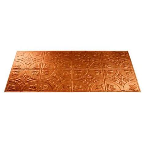 fasade traditional 2 2 ft x 4 ft antique bronze lay in