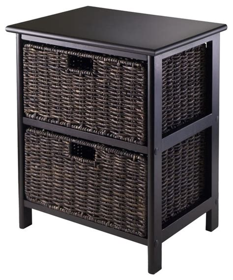side table with baskets omaha storage rack with foldable baskets black 2 baskets