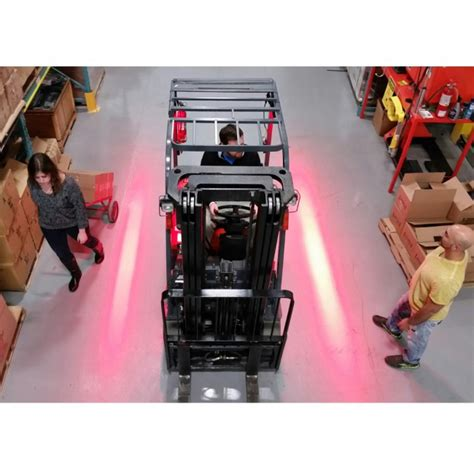 red zone safety light forkliftsafety red zone led pedestrian warning light