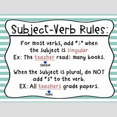 Subjectverb Agreement {sailing Through} By 3rd Grade Greer Tpt