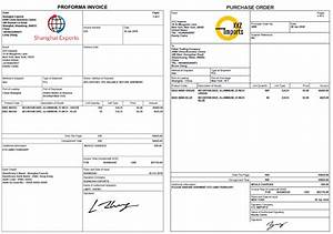 Pro Forma Purchase Order Template How To Create A Proforma Invoice And Purchase Order